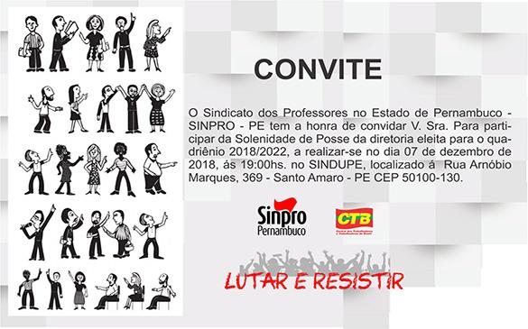 SINPRO PERNAMBUCO EMPOSSA NOVA DIREÇÃO HOJE (07)